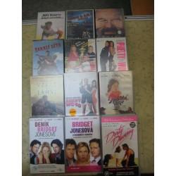 Videokazety  -  různé tituly    kus 10,-